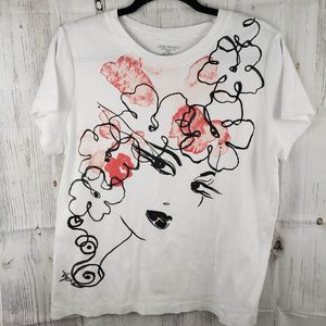 Lane Bryant Floral Art Deco Shirt Size 14/16